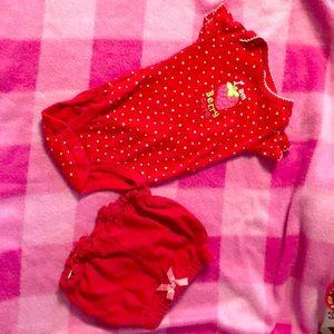 Carters strawberry onesie w/ shorts